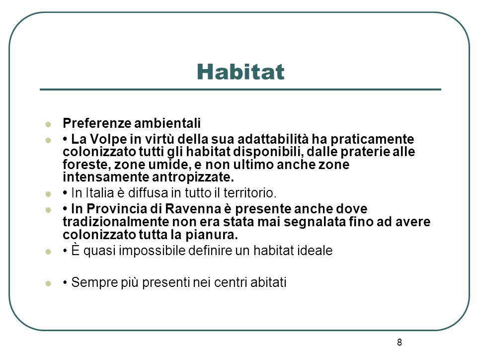 Habitat Preferenze ambientali