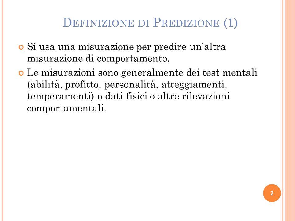 Definizione di Predizione (1)