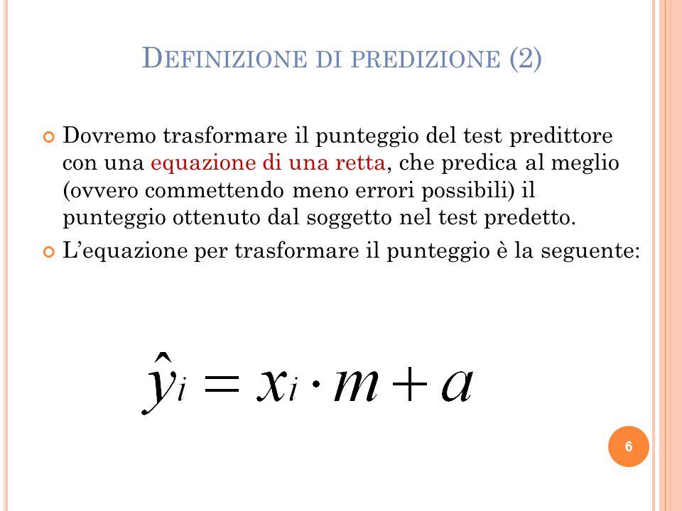 Definizione di predizione (2)