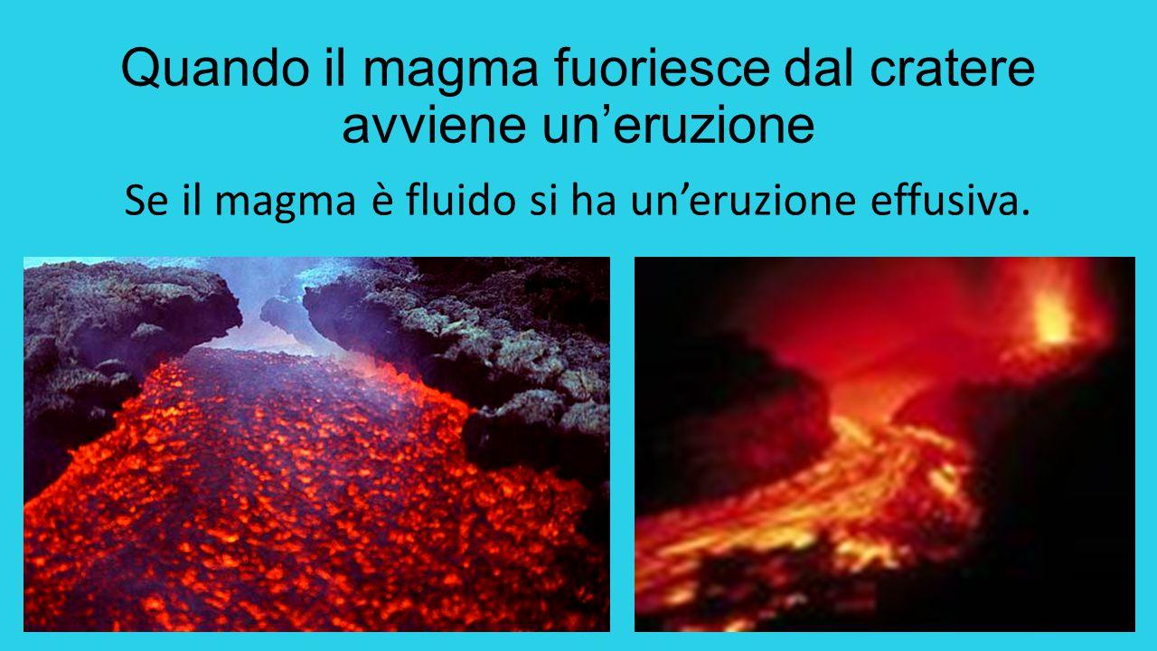 Quando il magma fuoriesce dal cratere avviene un'eruzione