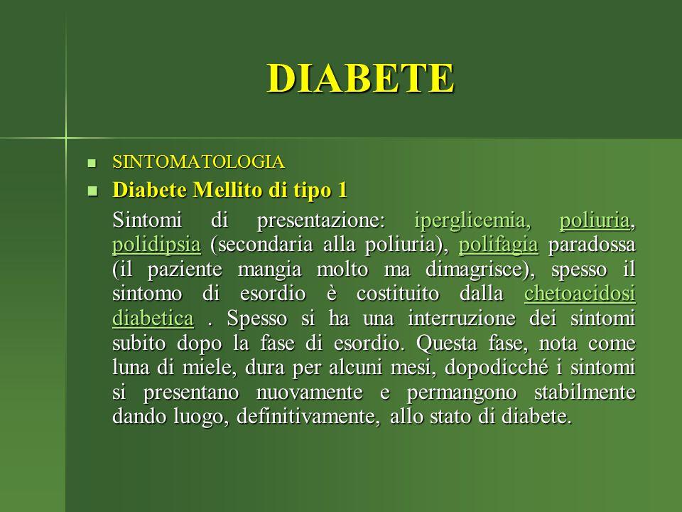 DIABETE Diabete Mellito di tipo 1