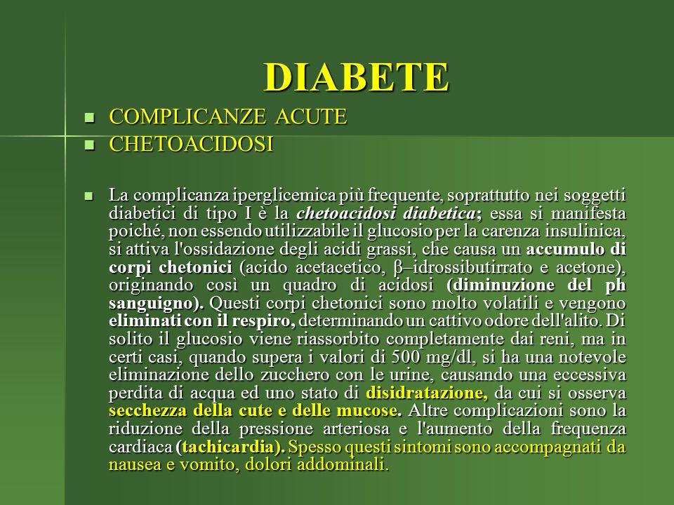DIABETE COMPLICANZE ACUTE CHETOACIDOSI