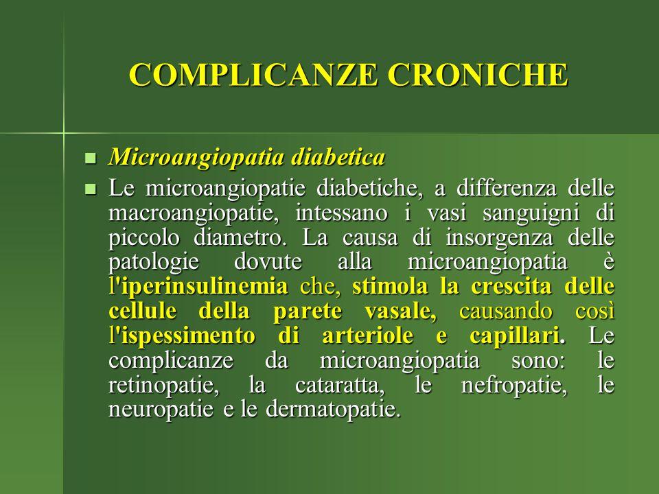 COMPLICANZE CRONICHE Microangiopatia diabetica