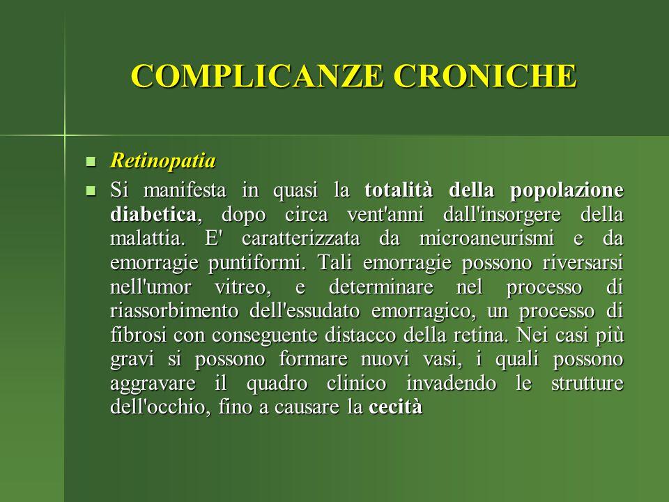 COMPLICANZE CRONICHE Retinopatia