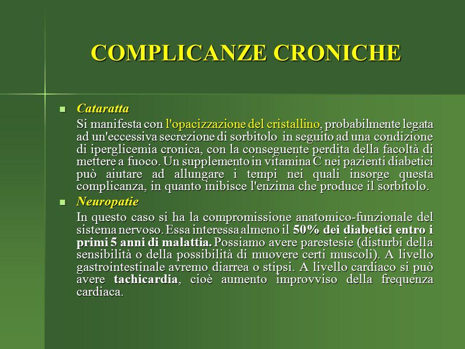 COMPLICANZE CRONICHE Cataratta