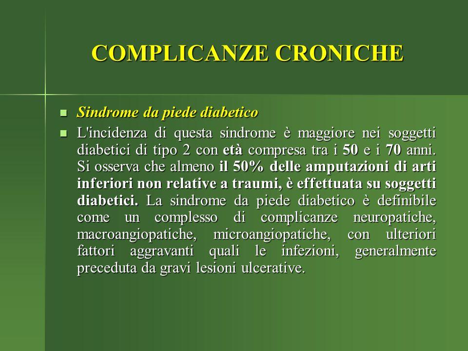 COMPLICANZE CRONICHE Sindrome da piede diabetico