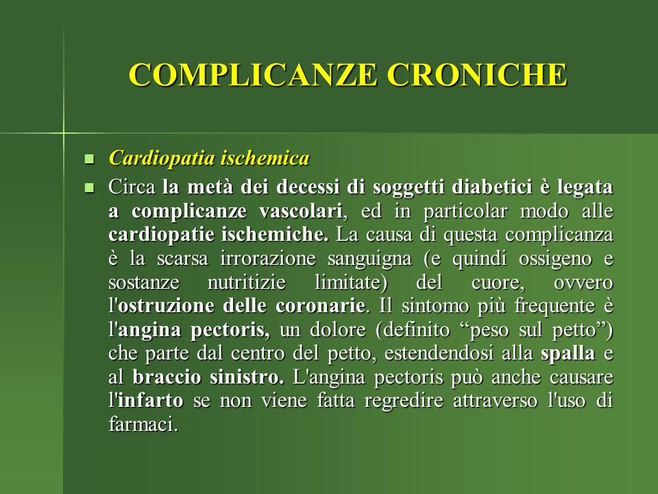 COMPLICANZE CRONICHE Cardiopatia ischemica