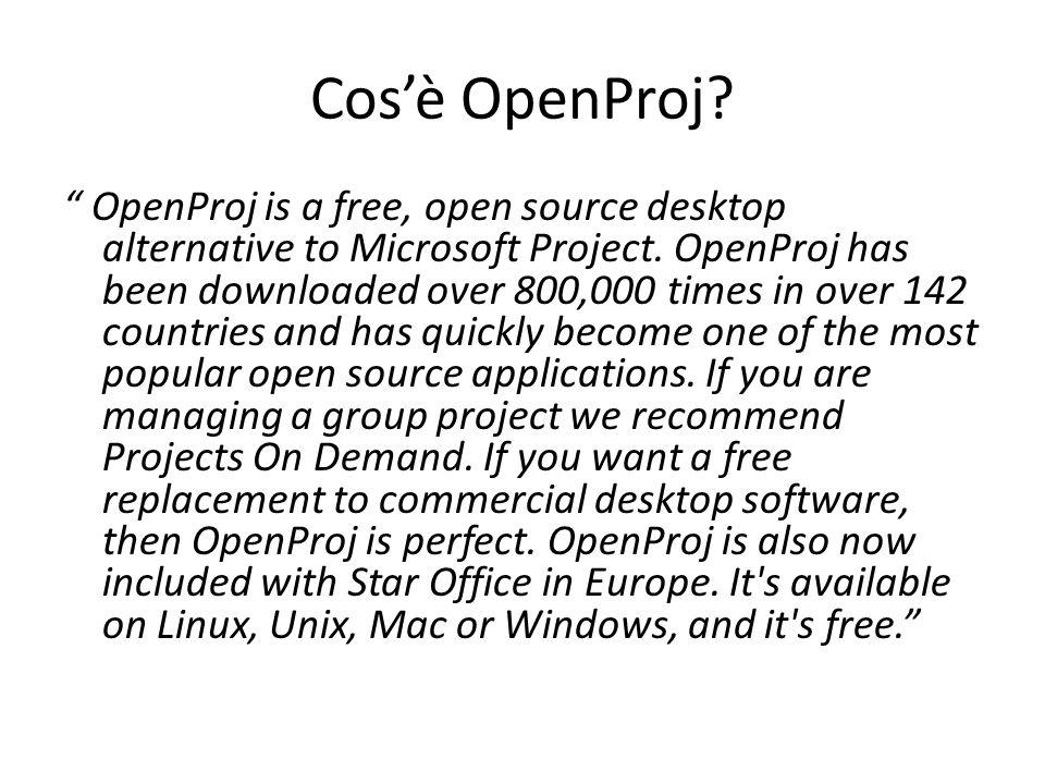 Cos'è OpenProj