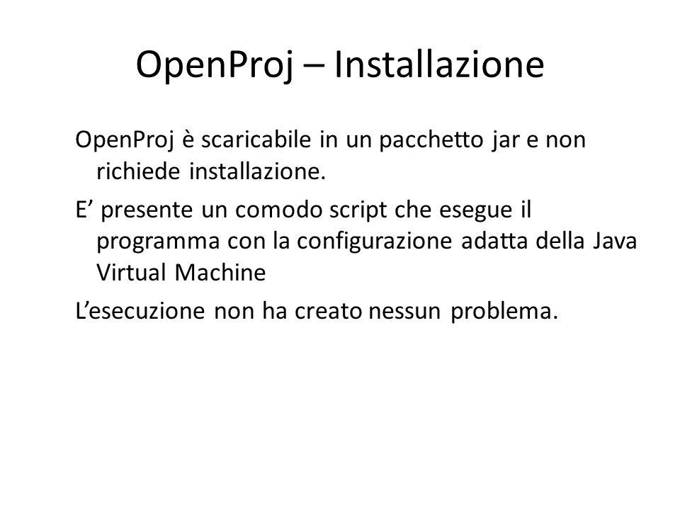 OpenProj – Installazione