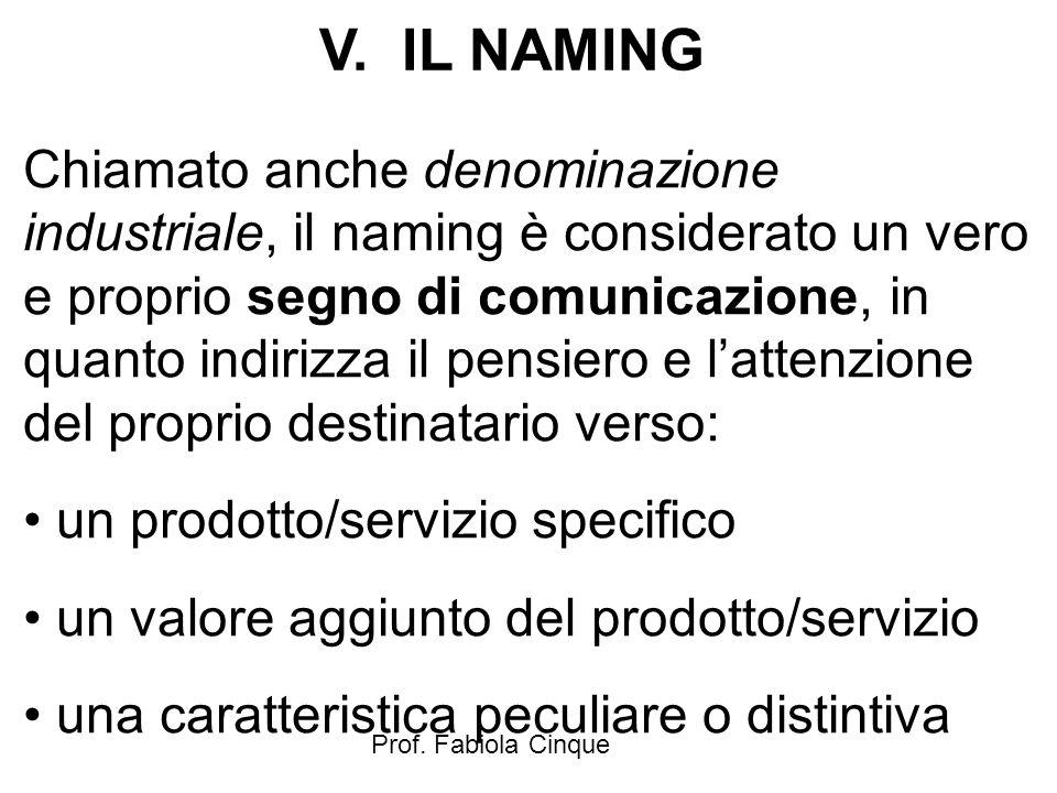 V. IL NAMING