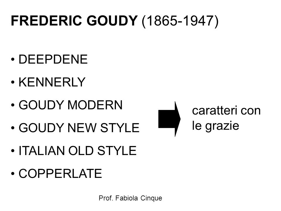 FREDERIC GOUDY (1865-1947) DEEPDENE KENNERLY GOUDY MODERN