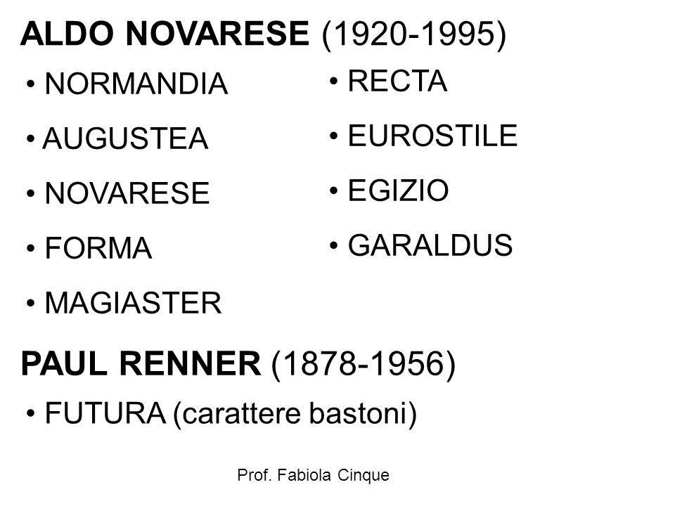 ALDO NOVARESE (1920-1995) PAUL RENNER (1878-1956) RECTA NORMANDIA