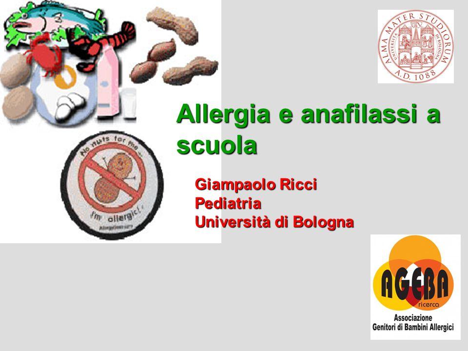 Allergia e anafilassi a scuola
