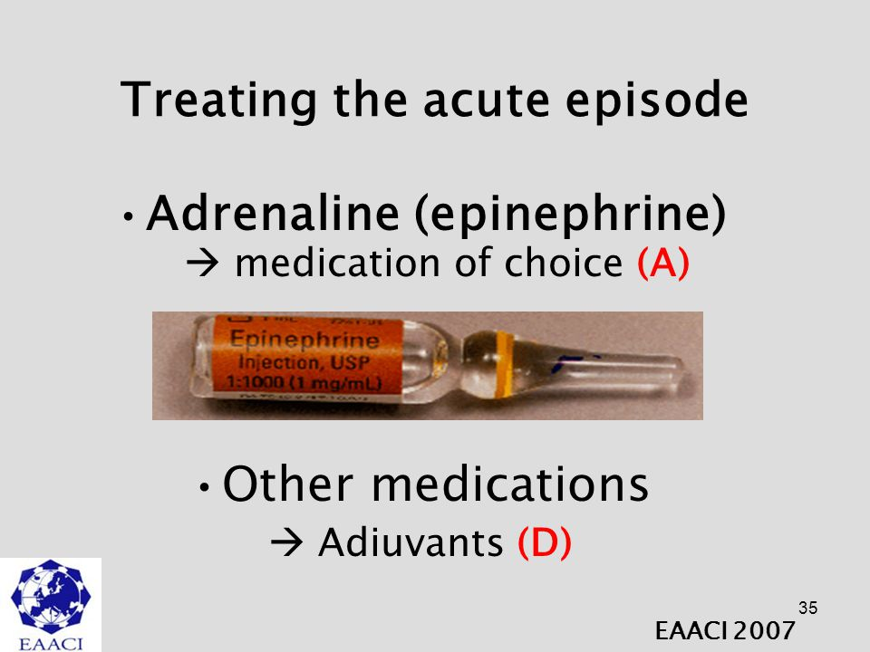 Treating the acute episode