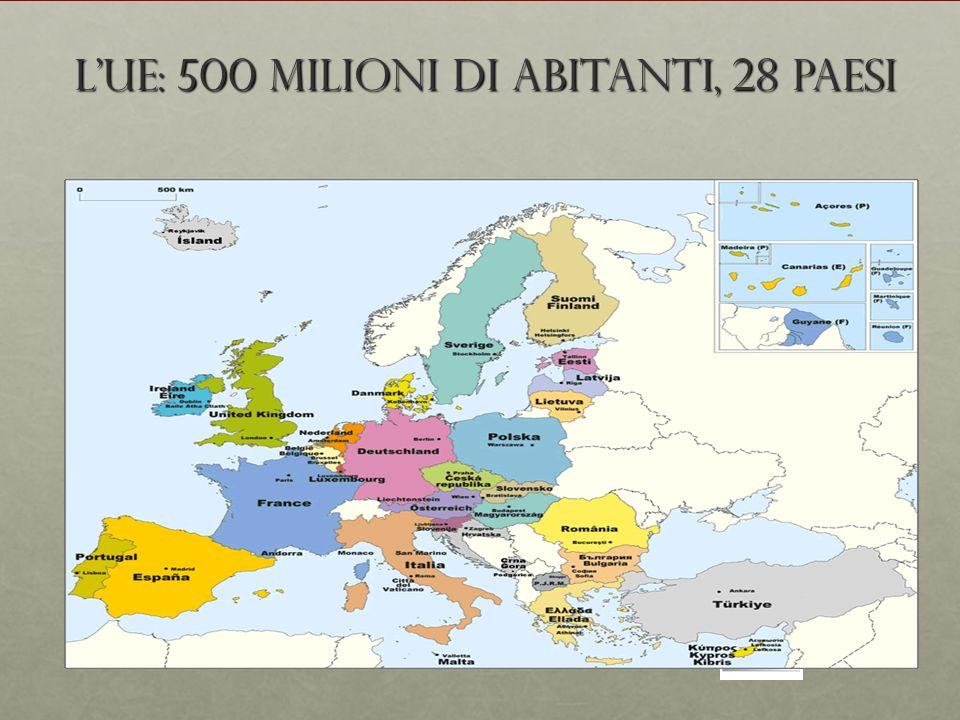 L'UE: 500 milioni di abitanti, 28 Paesi