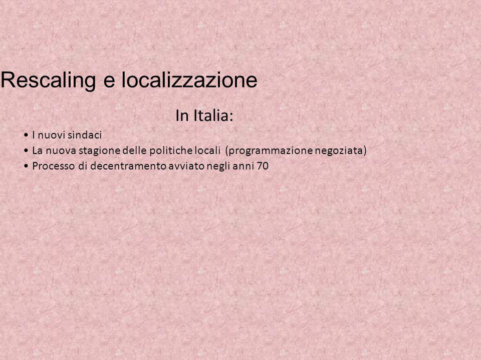 Rescaling e localizzazione