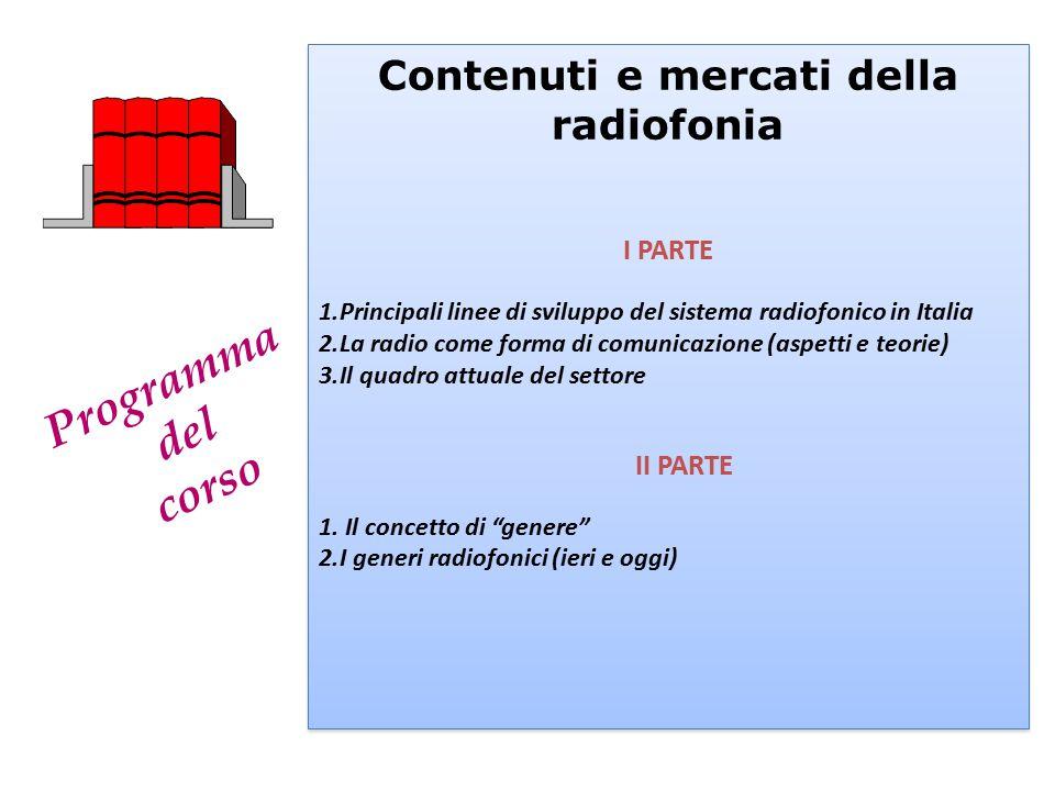 Contenuti e mercati della radiofonia