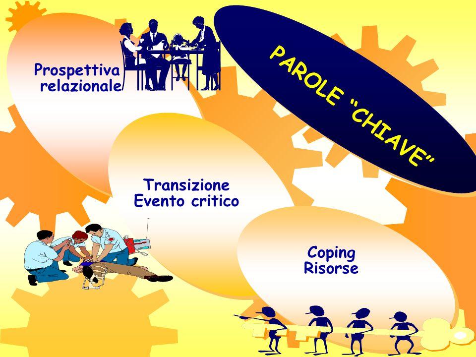 PAROLE CHIAVE Prospettiva relazionale Transizione Evento critico