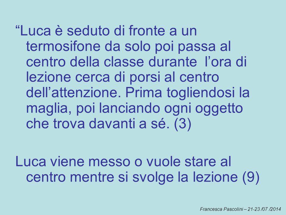 Francesca Pascolini – 21-23 /07 /2014