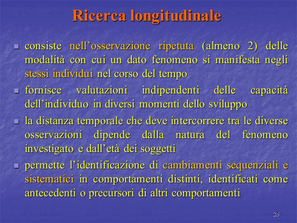 Ricerca longitudinale