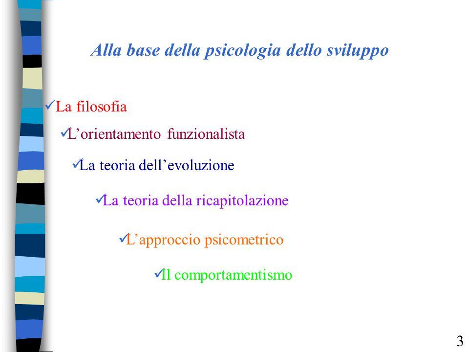 Alla base della psicologia dello sviluppo