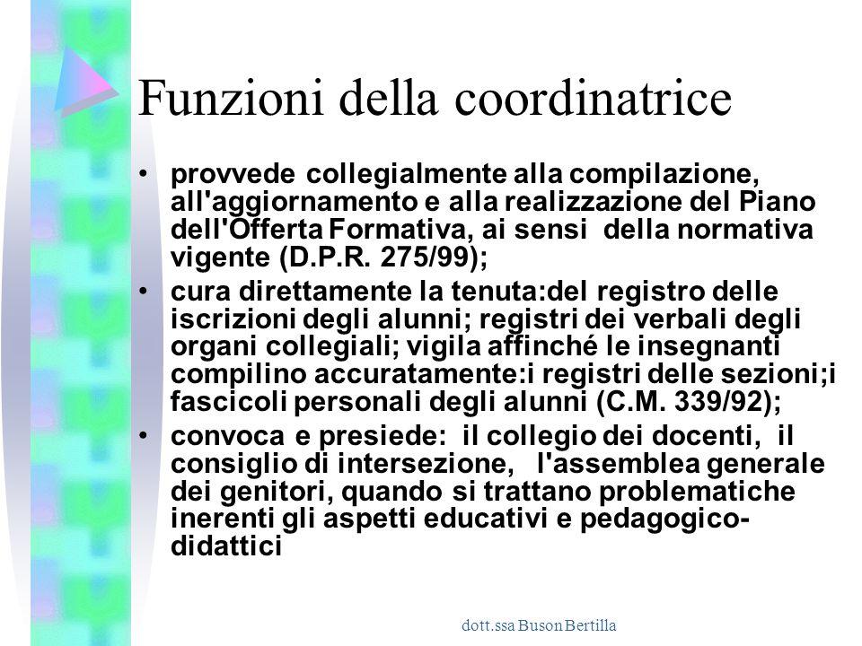 Funzioni della coordinatrice