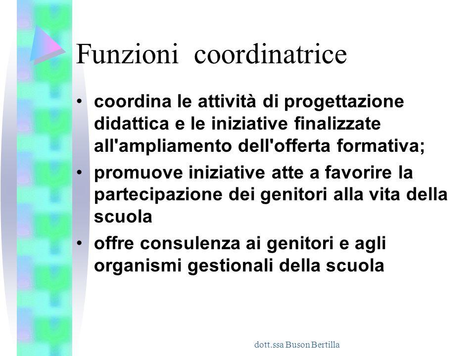 Funzioni coordinatrice