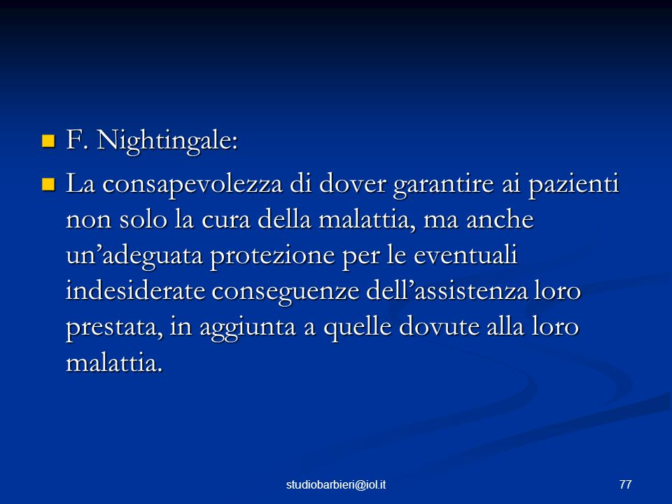 F. Nightingale: