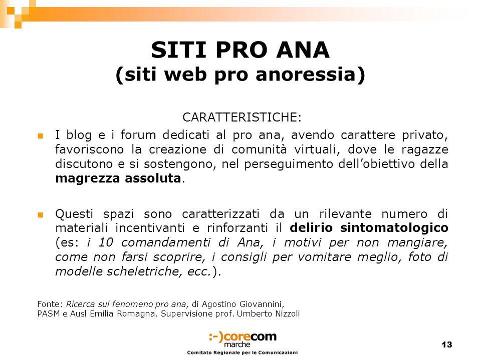 SITI PRO ANA (siti web pro anoressia)