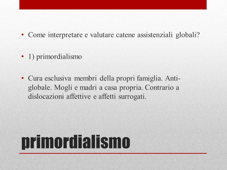 Come interpretare e valutare catene assistenziali globali