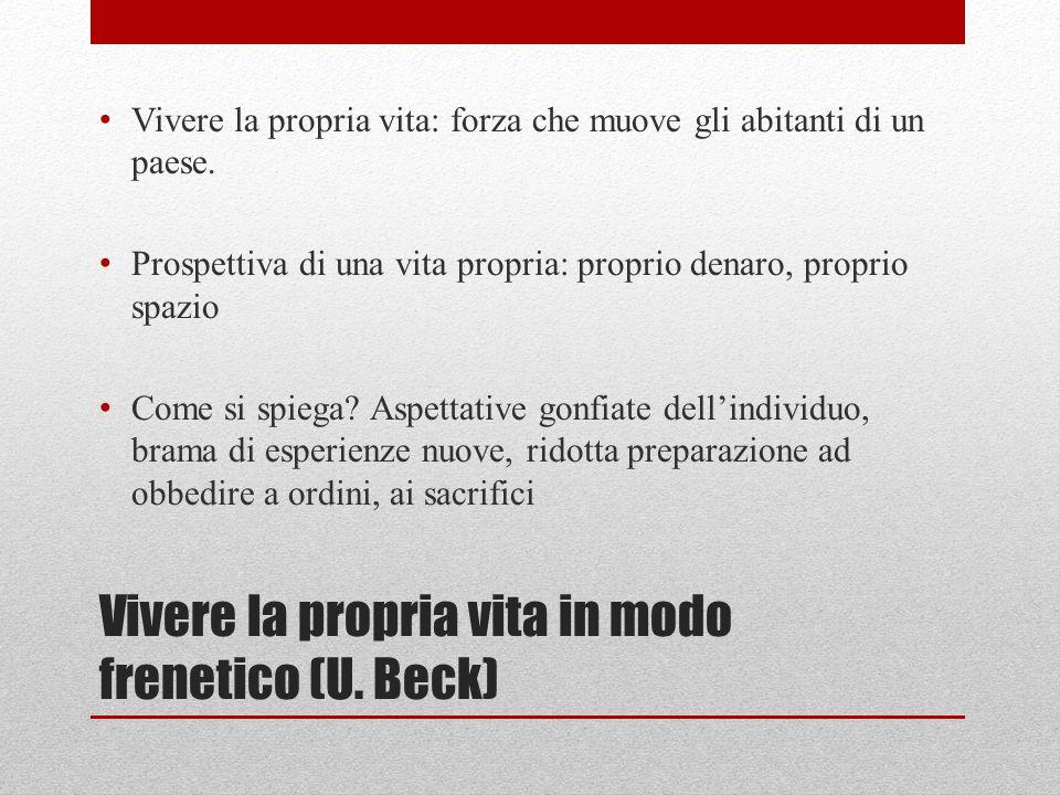 Vivere la propria vita in modo frenetico (U. Beck)