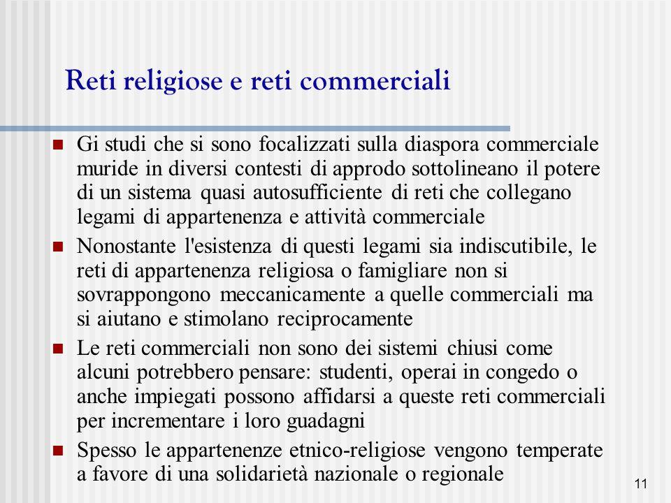 Reti religiose e reti commerciali