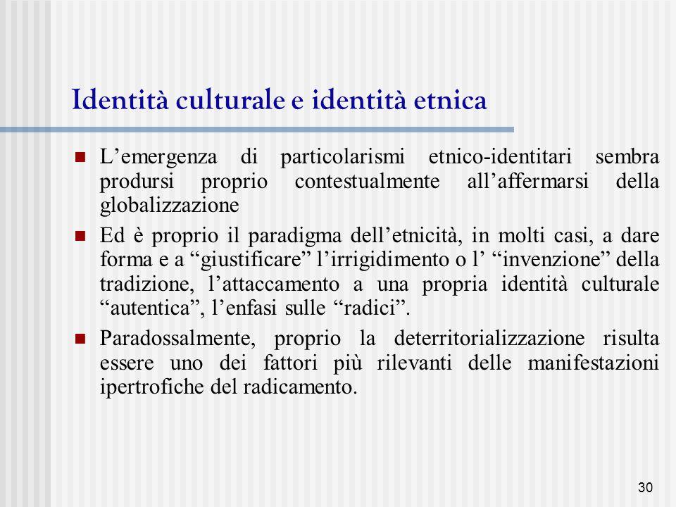 Identità culturale e identità etnica