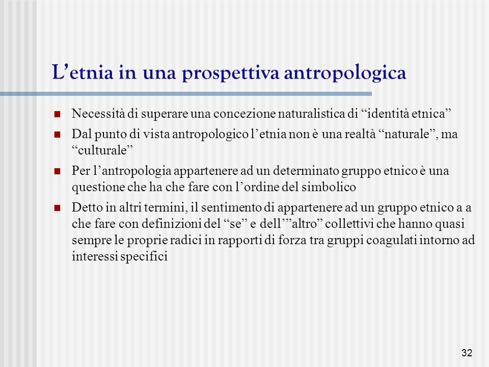 L'etnia in una prospettiva antropologica