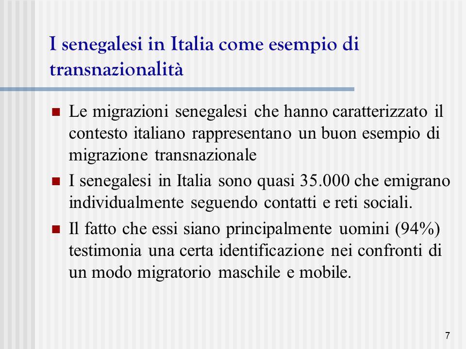 I senegalesi in Italia come esempio di transnazionalità
