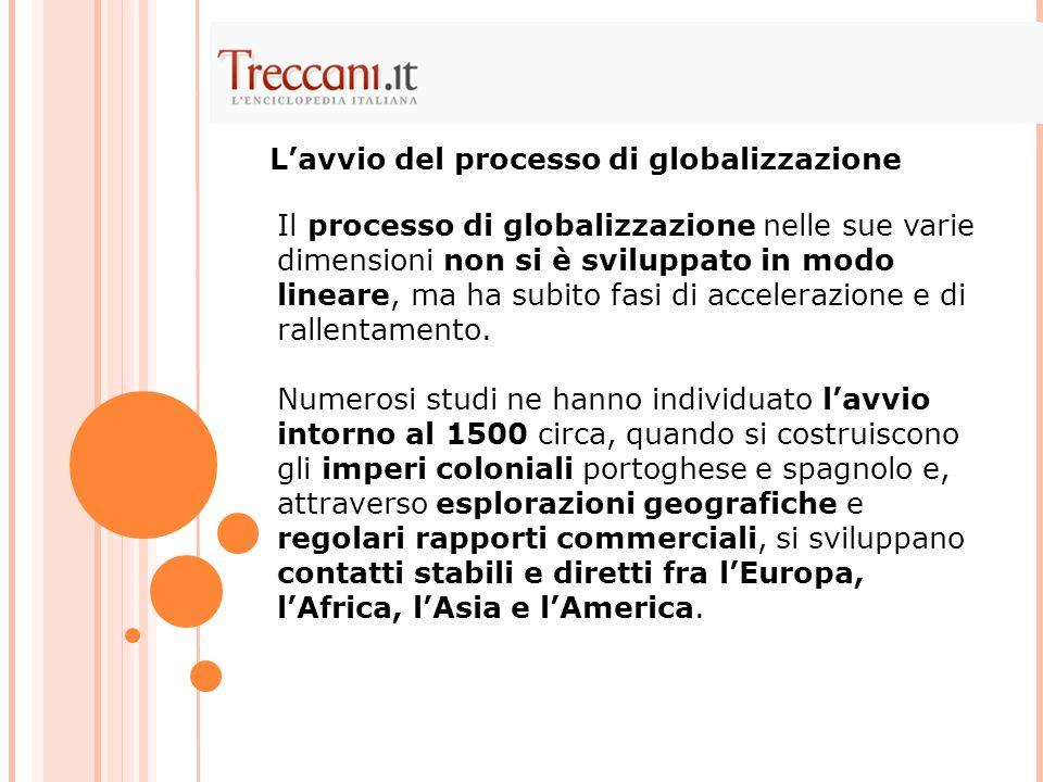 L'avvio del processo di globalizzazione