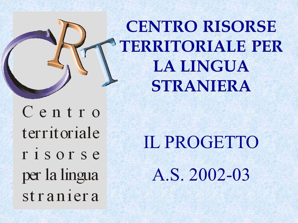 CENTRO RISORSE TERRITORIALE PER LA LINGUA STRANIERA