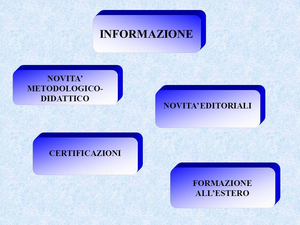 NOVITA' METODOLOGICO- FORMAZIONE ALL'ESTERO