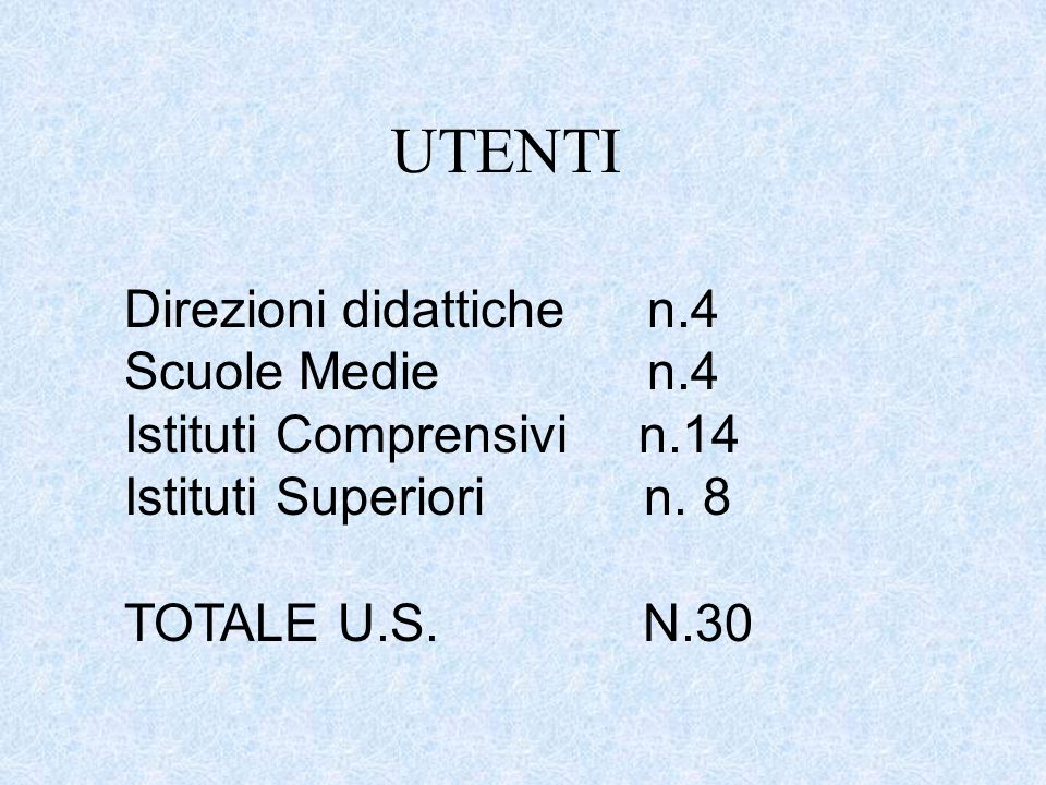 UTENTI Direzioni didattiche n.4 Scuole Medie n.4