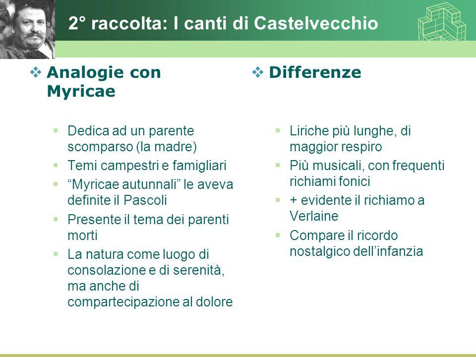 2° raccolta: I canti di Castelvecchio