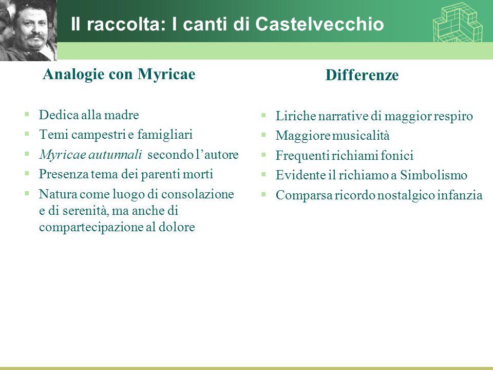 II raccolta: I canti di Castelvecchio