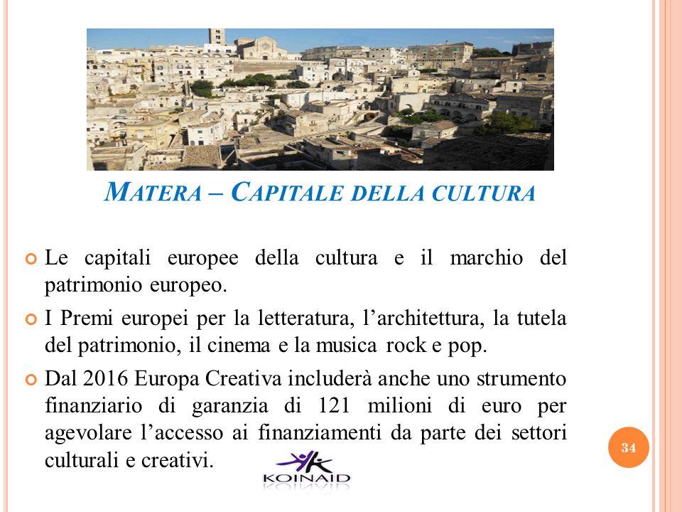 Matera – Capitale della cultura