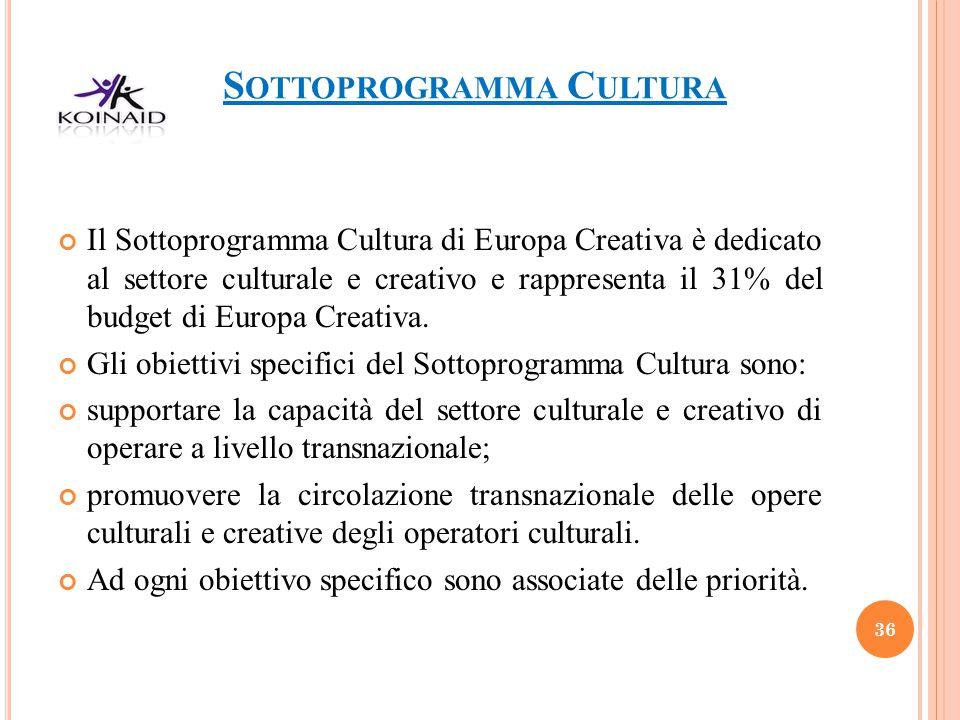 Sottoprogramma Cultura