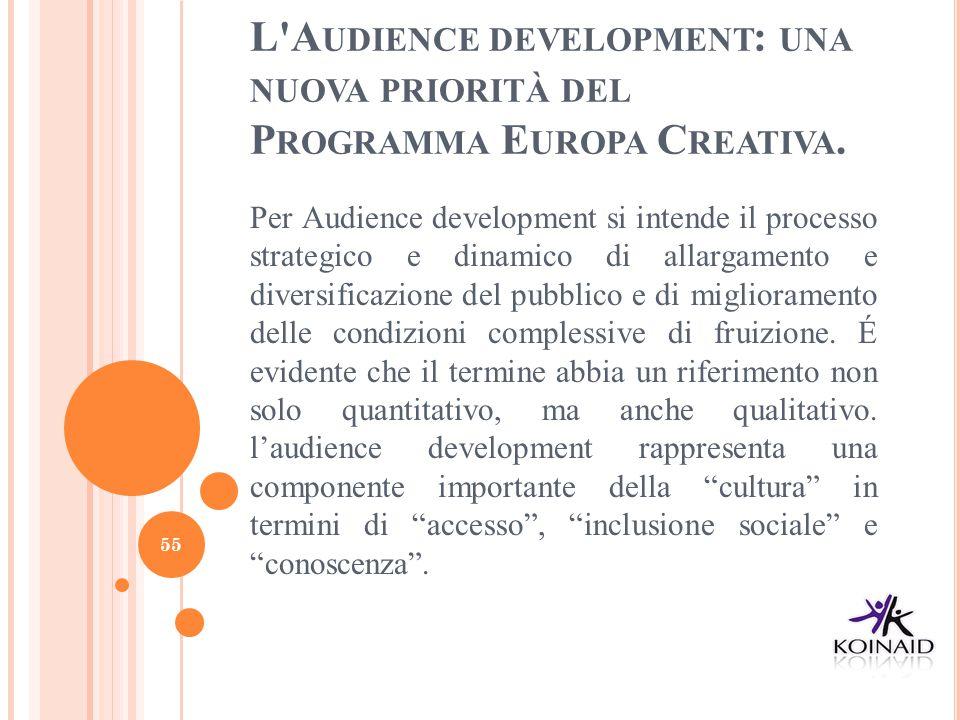 L Audience development: una nuova priorità del Programma Europa Creativa.