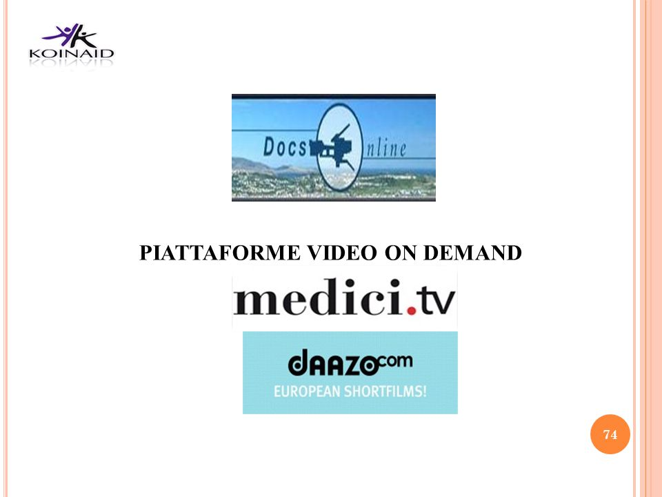 PIATTAFORME VIDEO ON DEMAND
