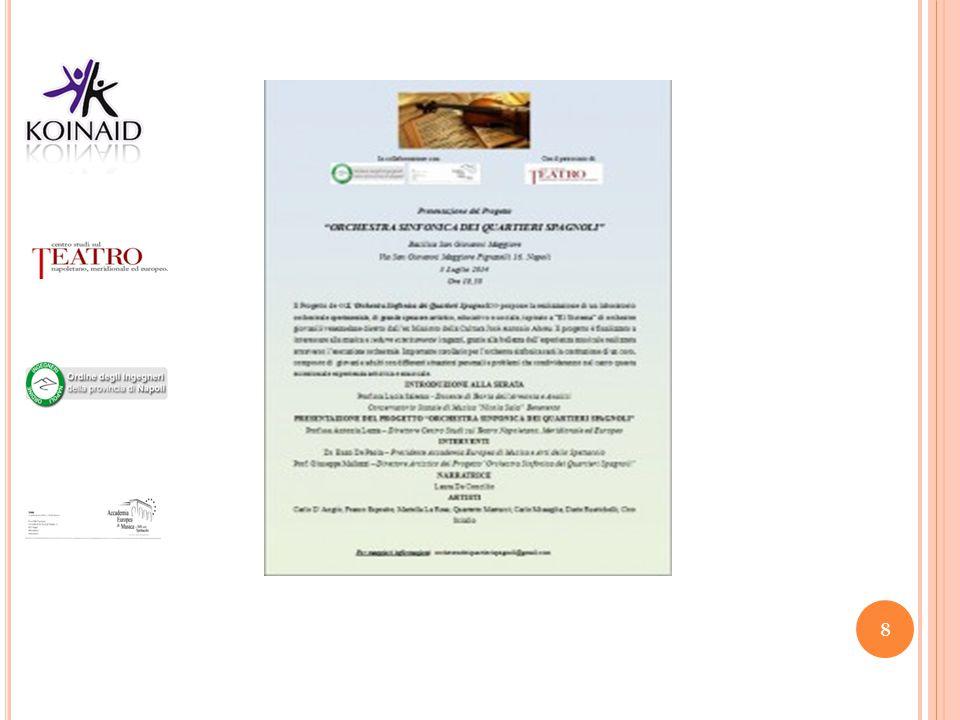 Locandina Evento L'Orchestra Sinfonica dei Quartieri Spagnoli – 2 luglio 2014 Basilica San Giovanni Maggiore Napoli