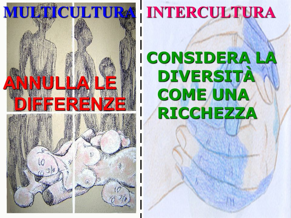 ANNULLA LE DIFFERENZE MULTICULTURA INTERCULTURA