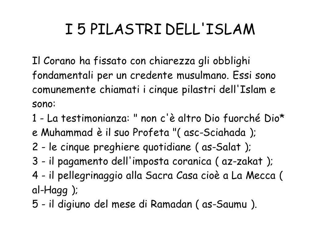 I 5 PILASTRI DELL ISLAM