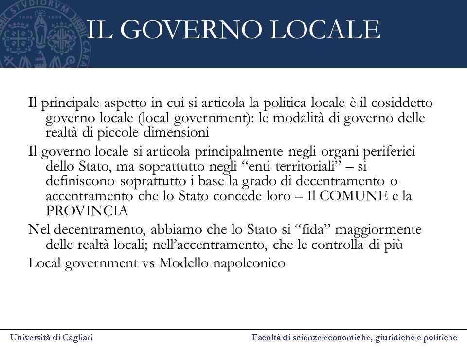 IL GOVERNO LOCALE