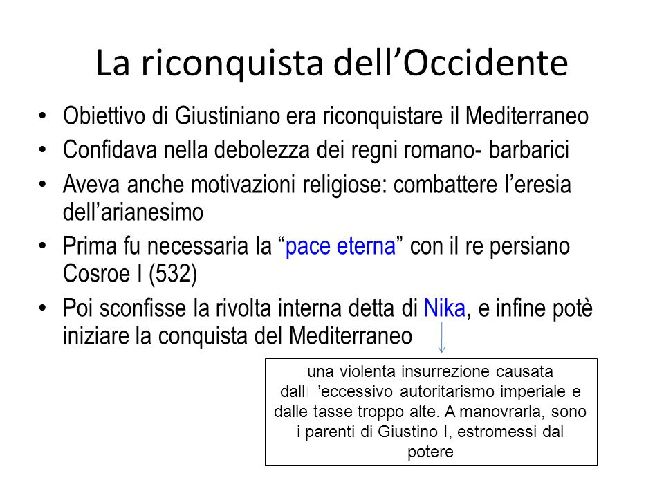 La riconquista dell'Occidente